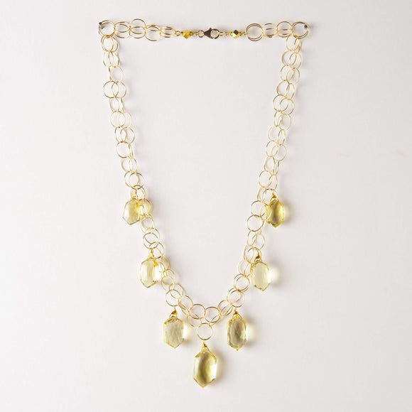 Riley Necklace - Lemon Topaz
