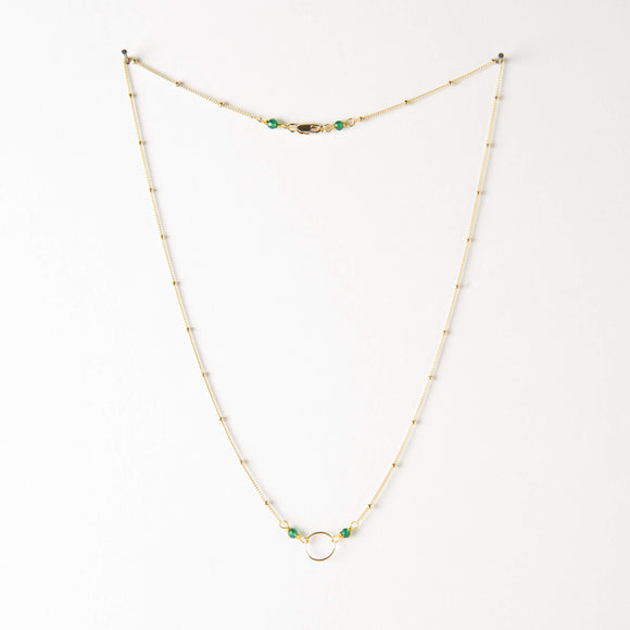 Lulu Necklace - Green Onyx