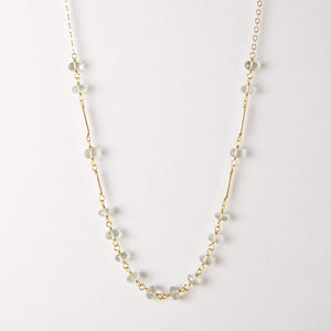 Evie Necklace - Green Amethyst