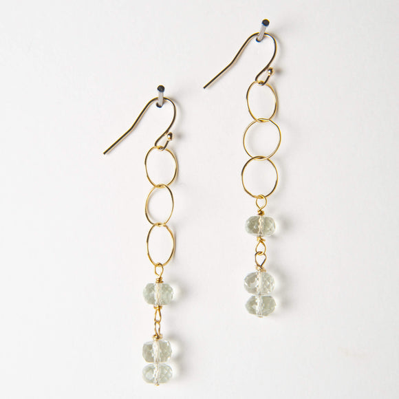 Chloe Earrings - Green Amethyst