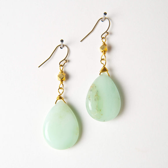 Georgia Earrings - Chrysoprase