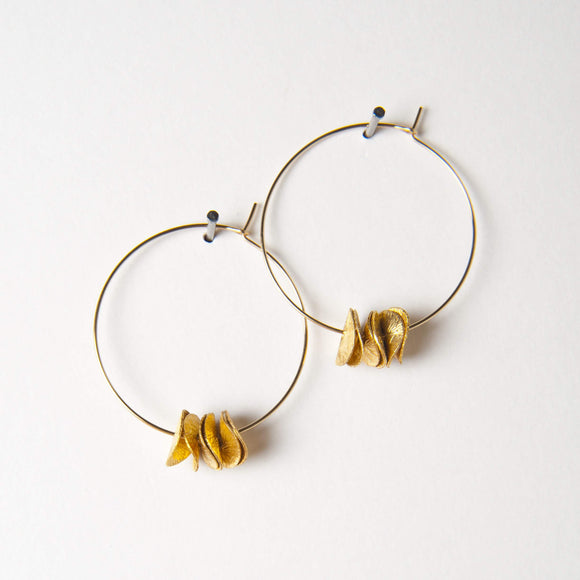 Patrice Earrings - Gold Disk
