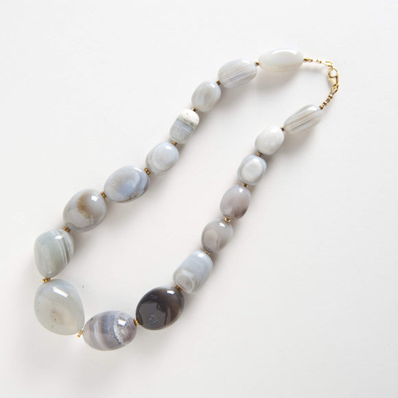 Devin Necklace - Purple Jasper