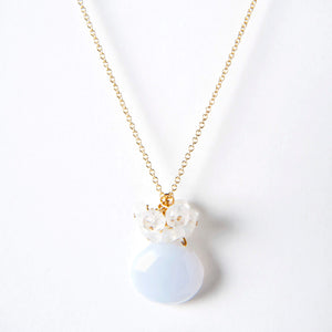 Leah Necklace - Chalcedony & Moonstone
