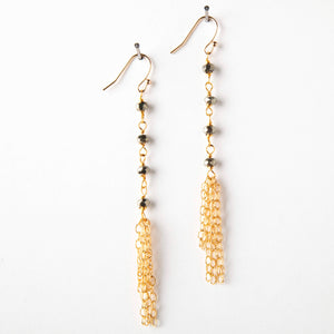 Sloan Earrings - Pyrite