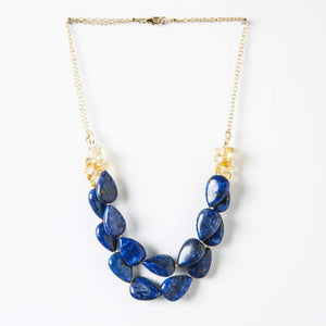 Savannah Necklace - Lapis & Citrine