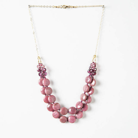 Savannah Necklace - Rhodonite & Garnet