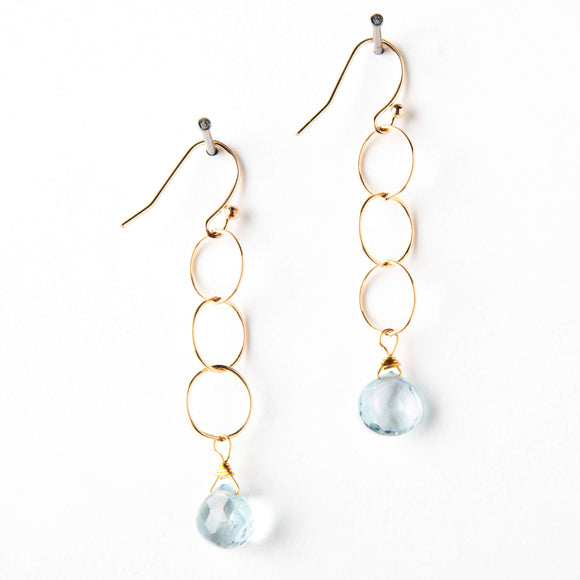 Belle Earrings - London Blue Topaz