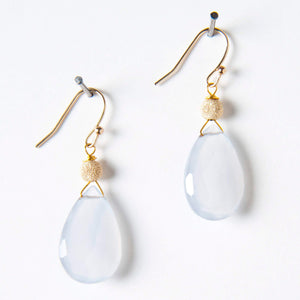 Haley Earrings - Chalcedony