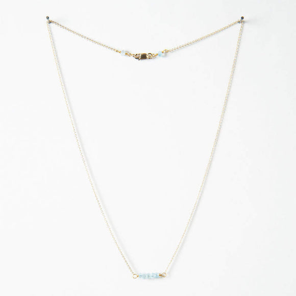 Effie Necklace - Aquamarine