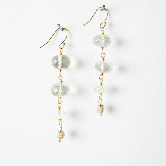 Alex Earrings - Green Amethyst