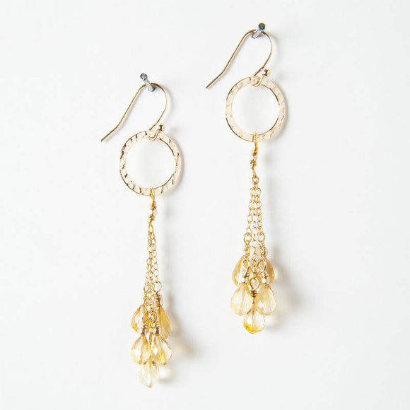 Ethel Earrings - Citrine