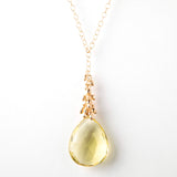 Trista Necklace - Lemon Quartz