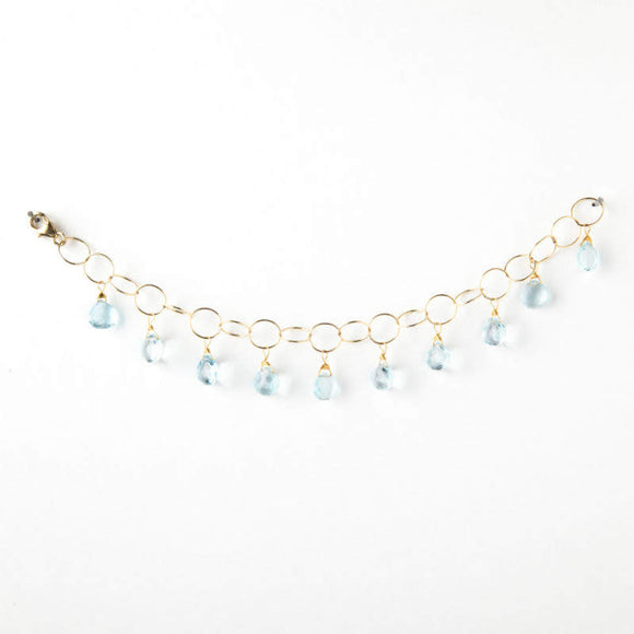 Anna Bracelet - London Blue Topaz