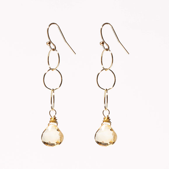 Belle Earrings - Citrine