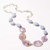 Elliot Necklace - Amethyst, Rock Crystal & Lace Agate