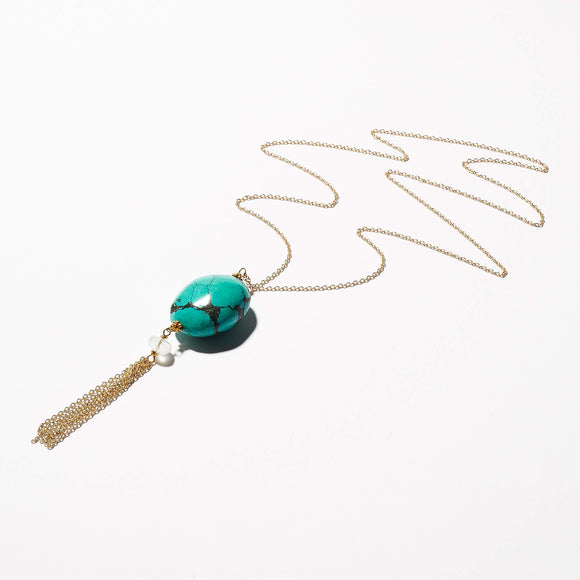 Toni Necklace - Turquoise & Aquamarine