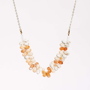Allison Necklace - Sunstone & Rock Crystal