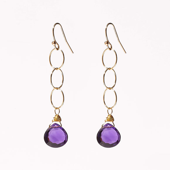 Belle Earrings - Amethyst