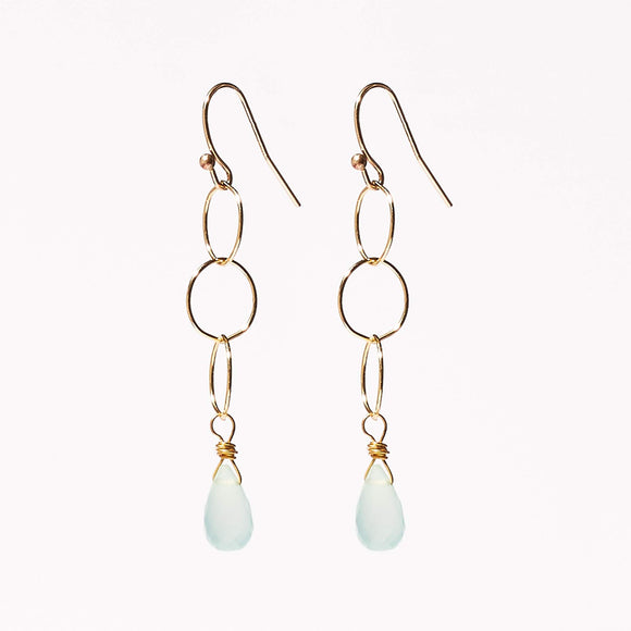 Belle Earrings - Chalcedony