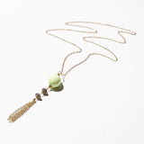 Toni Necklace - Lime Chalcedony & Labradorite