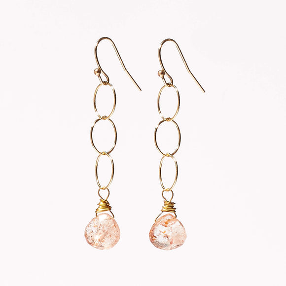 Belle Earrings - Sunstone
