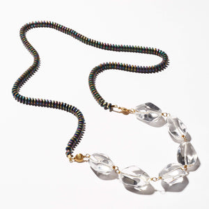 Wade Necklace - Pyrite & Rock Quartz