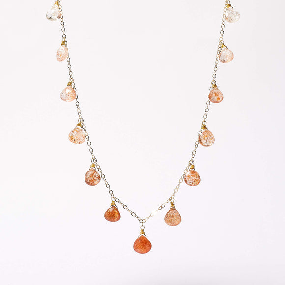 Noelle Necklace - Sunstone