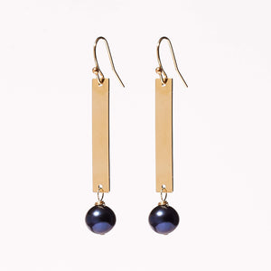 Ashley Earrings - Peacock Pearl