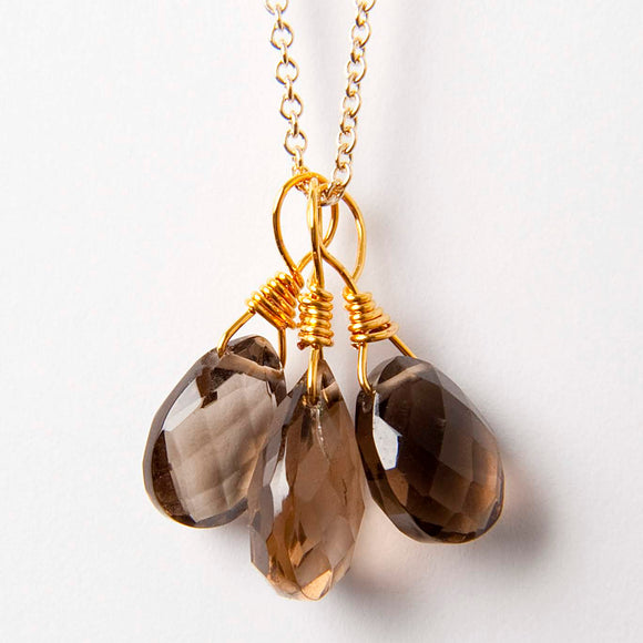 Amy Necklace - Smoky Quartz