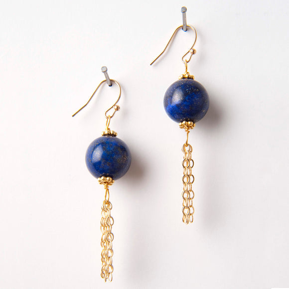 Kam Earrings - Lapis