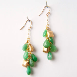 Nikki Earrings - Chrysoprase