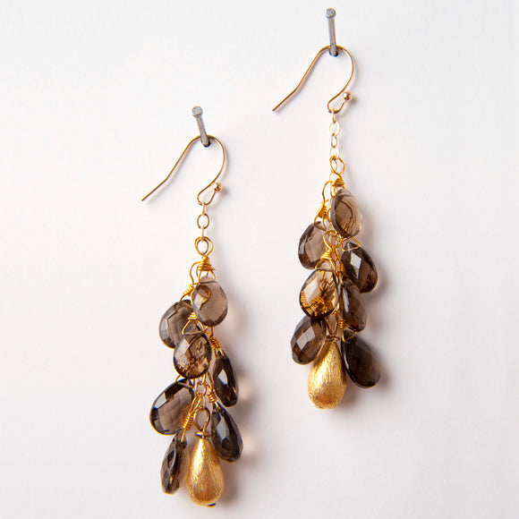 Jacqueline Earrings - Smoky Quartz
