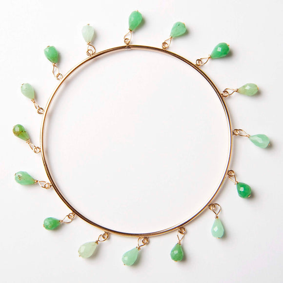 Aurelia Bangle Bracelet - Chrysoprase