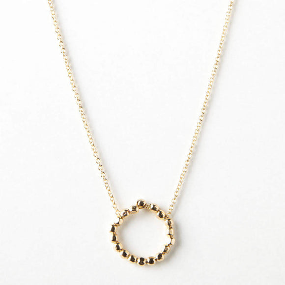 Jill Necklace - Gold Beads