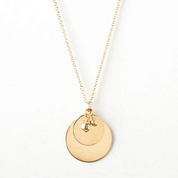 Melissa Necklace - Gold Disk