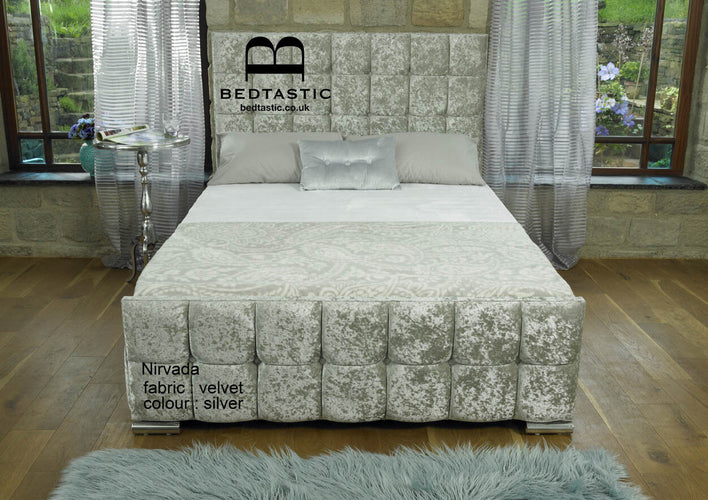 Nevada Velvet Fabric Bed main image