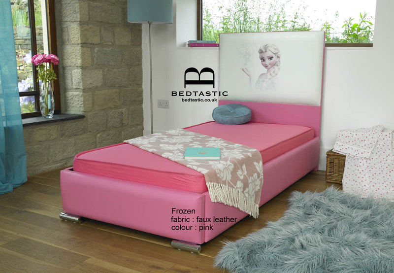Frozen Girls Upholstered Faux Leather Bed