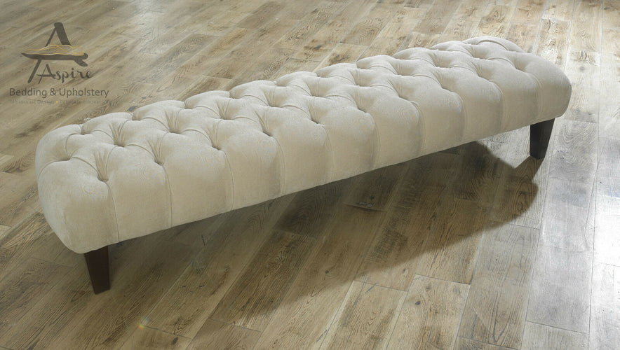 Chesterfield Foot Stool Pouffe main image