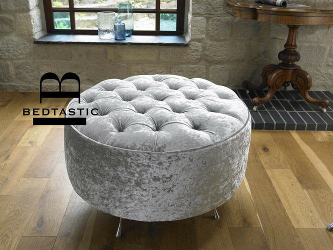 Chesterfield Round Pouffe Stool main image