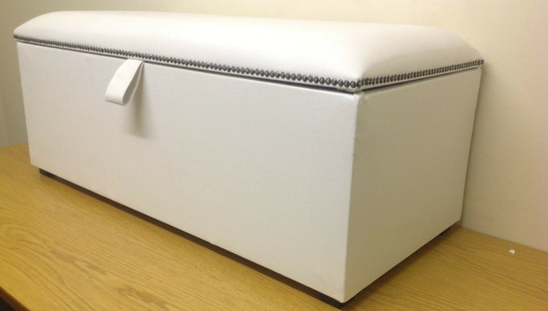 Studded Designer Ottoman Blanket Toy Storage Box