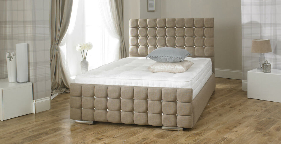 Crystal Upholstered Bed Frame main image