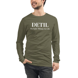 DETIL Mens Long Sleeve Shirt