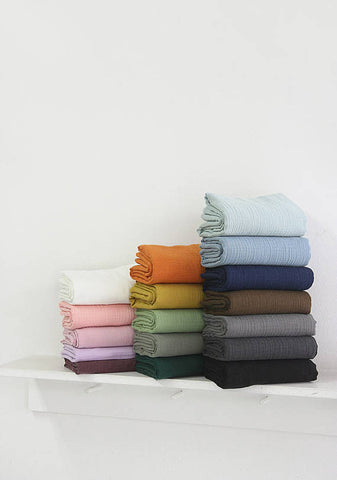 (NEW!) Cotton Double Gauze, Crinkle Gauze, Yoryu Gauze in 17 Colors - By the Yard 94751-1 99212