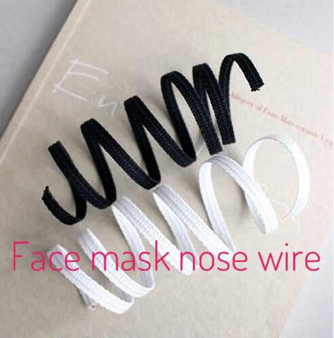 (Featured!) Flexible Fabric Covered Wires, Mask Making Nose Wires, Craft Wires - White or Black - 5 yards