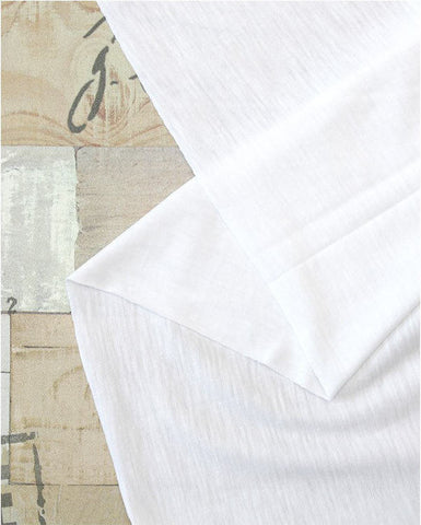 White Cotton Knit Fabric - 74 Inches Wide - By the Yard 89490
