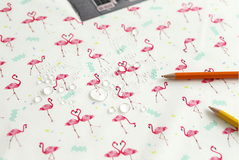 Flamingo Waterproof Fabric - 59 Inches Wide - By the Yard 90588