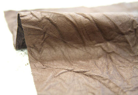 Fake Leather Fabric, Imitation Leather, Artificial Leather, Synthetic Leather Fabric - Light Brown - 53 Inches Wide - By the Yard 83626