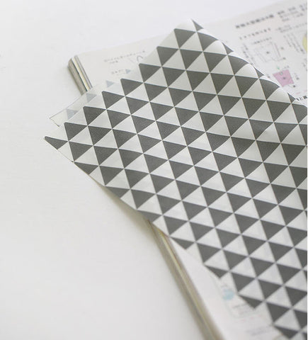 Waterproof Fabric, Gray Triangles, Geometric - 59 Inches Wide - By the Yard V01