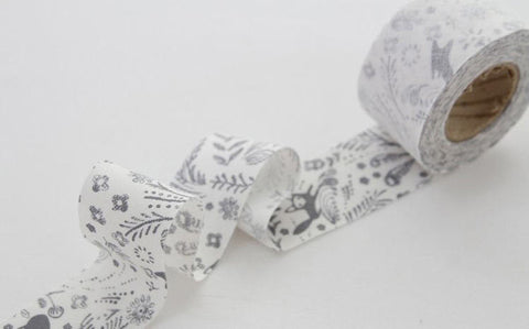 4 cm Cotton Bias - Sketchbook- 10 Yards - By the Roll - 89174